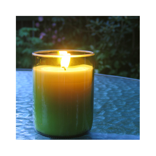 Essential oil wine bottle glass soy candle