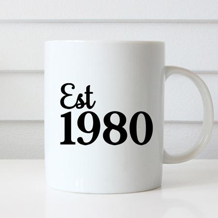 Established Year of Birth Mug