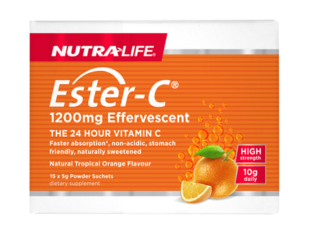 Ester C 1200mg High Strength Sachets 5g - 15 Sachets