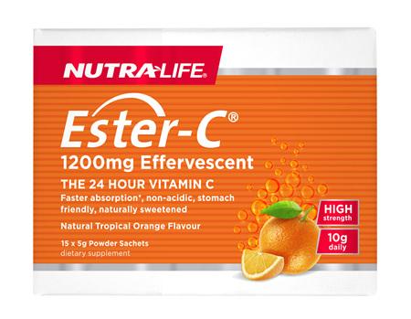 Ester C 1200mg High Strength Sachets 5g - 15 Sachets
