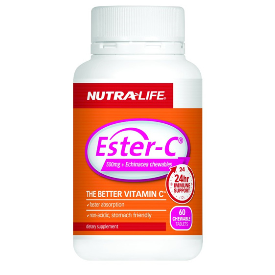 Ester C Echinacea + Probiotic Chew 60