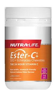 EsterC  500 Echinacea Chewables  120 tablets