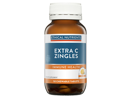 Ethical Nutrients Extra C Zingles Orange 50 ChewableTablets
