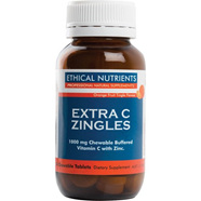 Ethical Nutrients Extra C Zingles Orange Chewable Tablets 50s