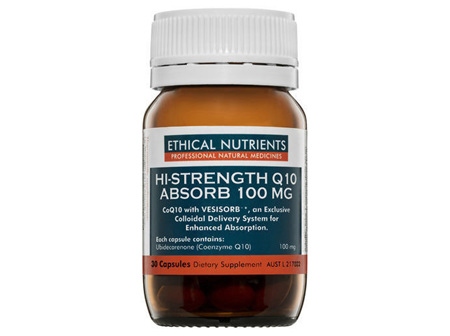 Ethical Nutrients HiStrength Q10 Absorb 100MG 30 Caps