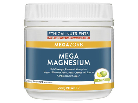 Ethical Nutrients Mega Magnesium Powder Citrus 200G
