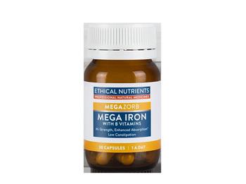 Ethical Nutrients MEGAZORB Mega Iron - 30 capsules