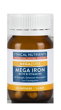 Ethical Nutrients MEGAZORB Mega Iron  30 capsules