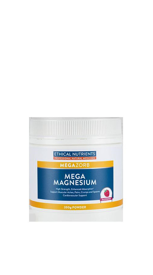 Ethical Nutrients MEGAZORB Mega Magnesium Powder 200g - Raspberry