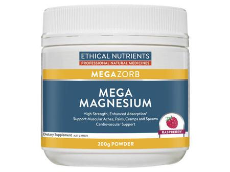Ethical Nutrients MEGAZORB Mega Magnesium Raspberry 200g Powder
