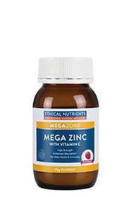 Ethical Nutrients MEGAZORB Mega Zinc - 95g Powder