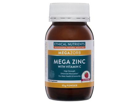 Ethical Nutrients MEGAZORB Mega Zinc Raspberry 95g Powder