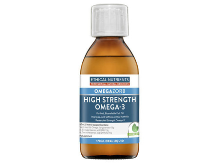 Ethical Nutrients OMEGAZORB High Strength Omega3 Fresh Mint 170mL Oral Liquid