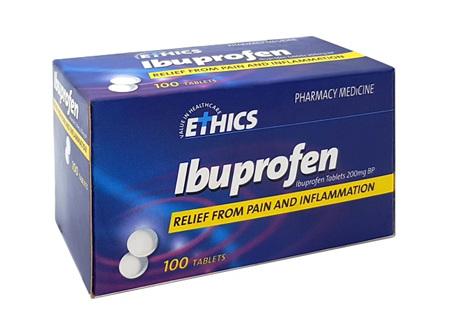 ETHICS Ibuprofen 200mg 100tabs