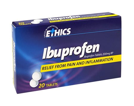 Ethics Ibuprofen 200mg tablets x 20 tablets