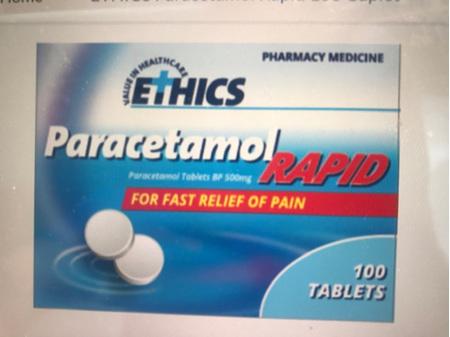Ethics Paracetamol Rapid 500mg 100 tab