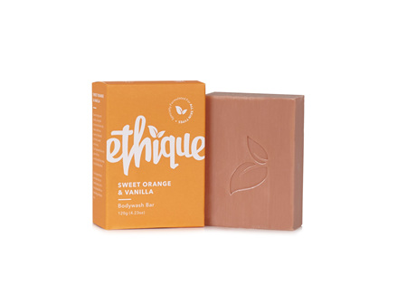 Ethique Body Wash Bar Sweet Orange & Vanilla 120g