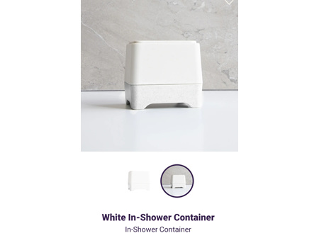 ETHIQUE B&S In-Shower Container Wht