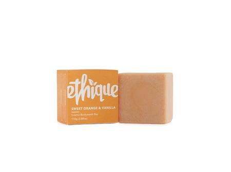 Ethique Creme Body Wash Bar Sweet Orange & Vanilla 110g