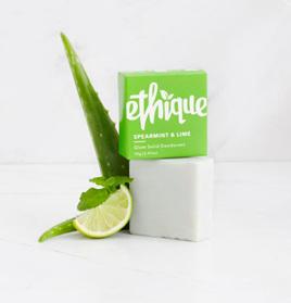 Ethique Spearmint & Lime Glow Solid Deodorant 70 grams