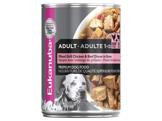 Eukanuba Adult Mixed Grill Chicken & Beef Dinner in Gravy 354g