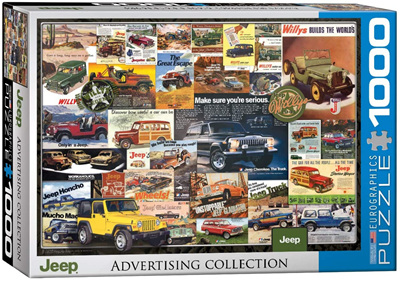 Eurographics 1000 Piece Jigsaw Puzzle: Jeep Advertising Collection