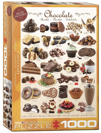 Eurographics 1000 Piece Jigsaw Puzzle: Chocolate