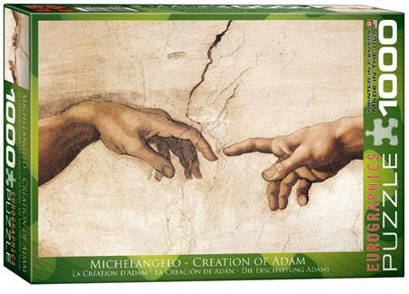 Eurographics 1000 Piece Jigsaw Puzzle: Creation Of Adam (Detail)