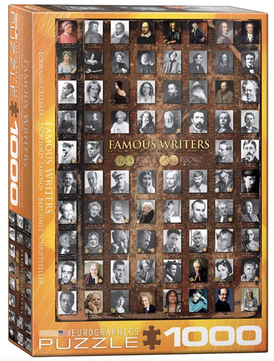 Eurographics 1000 Piece Jigsaw Puzzle: Famous Writers