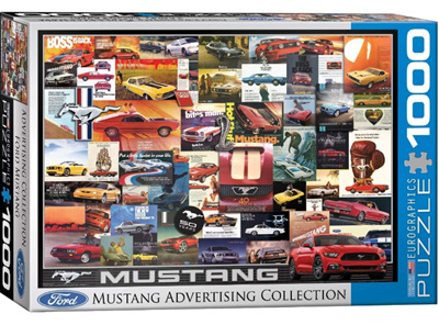 Eurographics 1000 Piece Jigsaw Puzzle: Ford Mustang Advertising