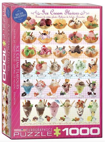 Eurographics 1000 Piece Jigsaw Puzzle: Ice Cream Flavours