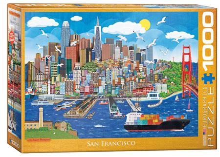 Eurographics 1000 Piece Jigsaw Puzzle: Jasper Tompson -  San Francisco
