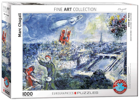 Eurographics 1000 Piece Jigsaw Puzzle: Marc Chagall - View Of Paris