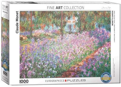 Eurographics 1000 Piece Jigsaw Puzzle:  Monet's Garden