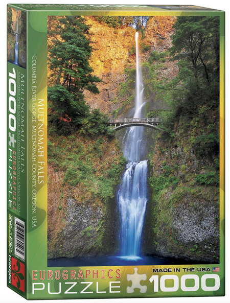 Eurographics 1000 Piece Jigsaw Puzzle: Multinomah Falls Oregon