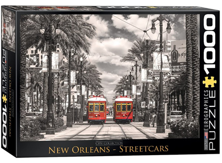 Eurographics 1000 Piece  Jigsaw Puzzle:  New Orleans Street Cars