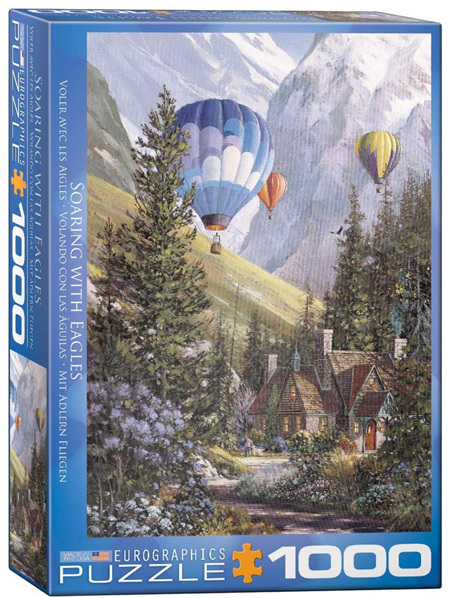 Eurographics 1000 Piece Jigsaw Puzzle: Soaring With Eagles