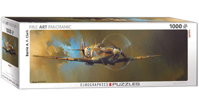 Eurographics 1000 Piece Panorama Jigsaw Puzzle: Spitfire by Barrie A.F. Clark