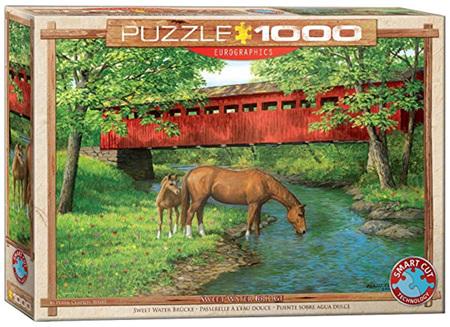 Eurographics 1000 Piece Jigsaw Puzzle: Sweet Water Bridge