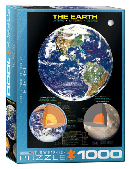 Eurographics 1000 Piece  Jigsaw Puzzle:  The Earth