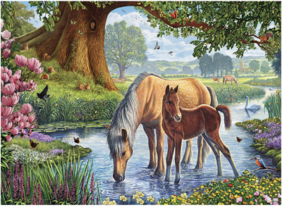 Eurographics 1000 Piece Jigsaw Puzzle: The Fell Ponies