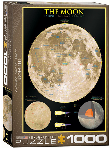 Eurographics 1000 Piece  Jigsaw Puzzle:  The Moon