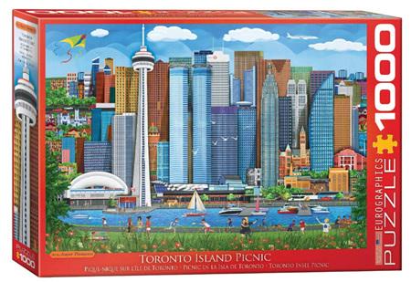 Eurographics 1000 Piece  Jigsaw Puzzle:  Toronto Island Picnic