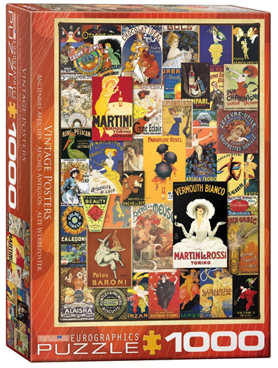 Eurographics 1000 Piece Jigsaw Puzzle: Vintage Posters