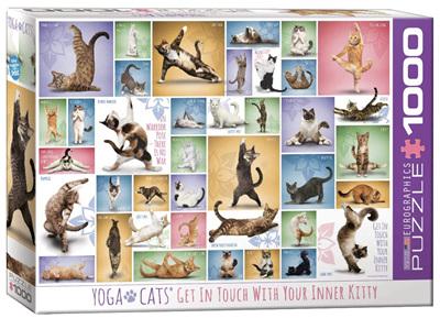 Eurographics 1000 Piece Jigsaw Puzzle: Yoga Cats