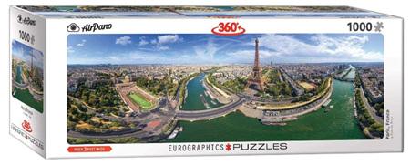 Eurographics 1000 Piece Panorama Jigsaw Puzzle: Paris