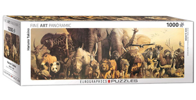 Eurographics 1000 Piece Panorama Jigsaw Puzzle: Noah's Ark by Haruo Takino