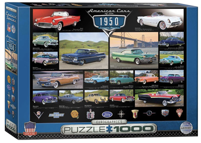Eurographics 1000 Piece Jigsaw Puzzle: American Cars Of The 1950's