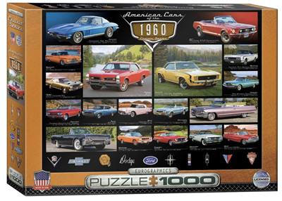 Eurographics 1000 Piece Jigsaw Puzzle: American Cars Of The 1960's