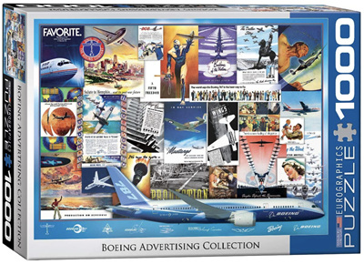 Eurographics 1000 Piece Jigsaw Puzzle: Boeing Advertising